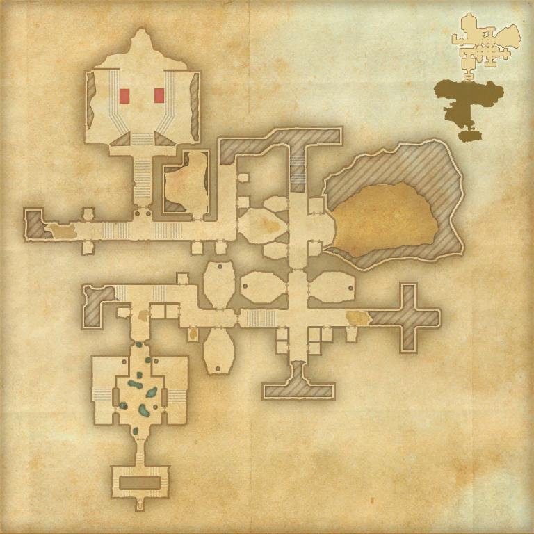 A map of the second area of Sanctum Ophidia