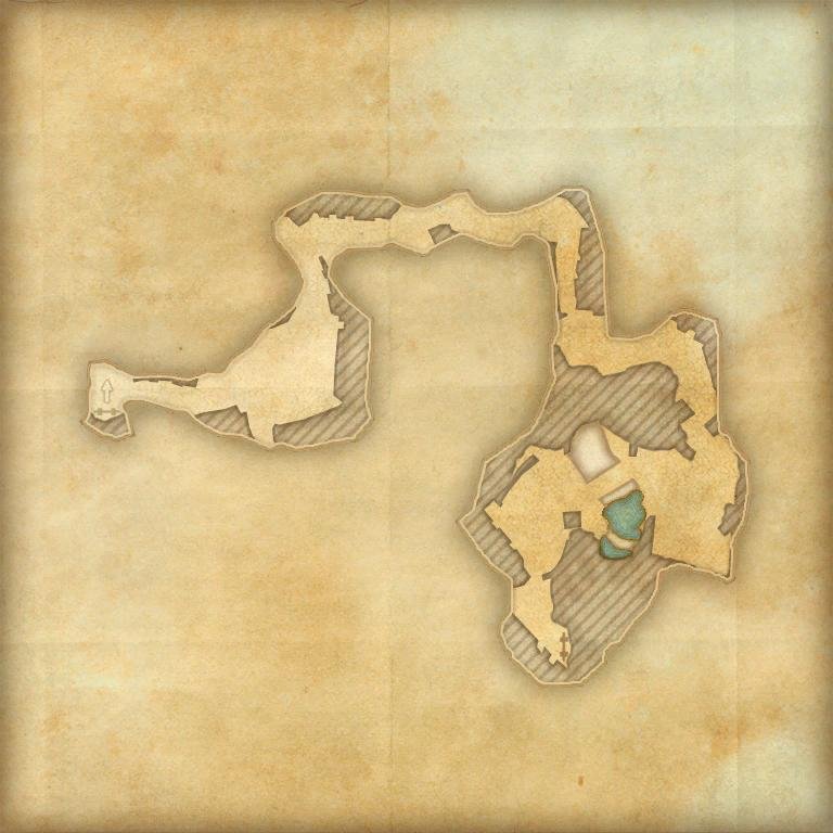 A map of the second cave in Tempest Island