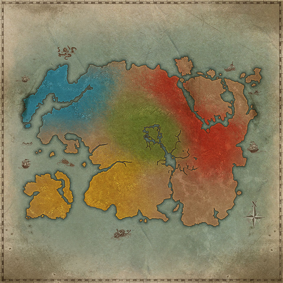 a mostly ideal world map also made by zos