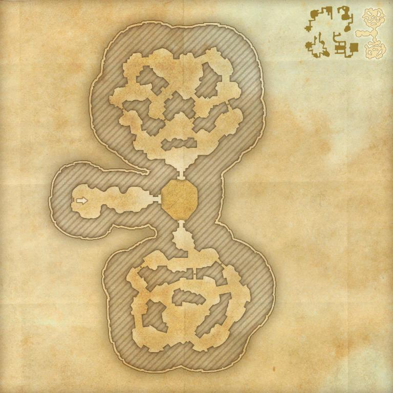 A map of the fifth area of the Cradle of Shadows