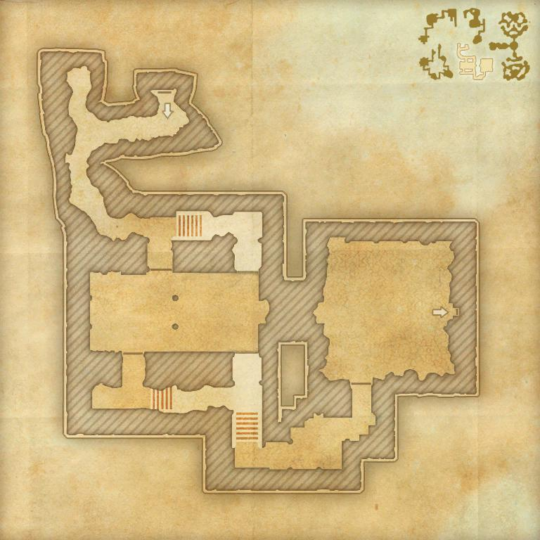 A map of the fourth area of the Cradle of Shadows