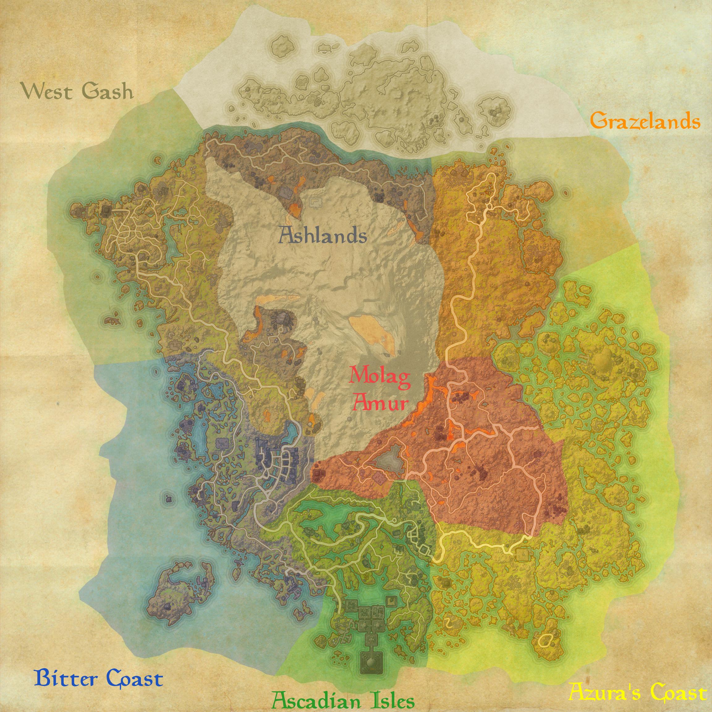 Vvardenfell Region Map — Elder Scrolls Online