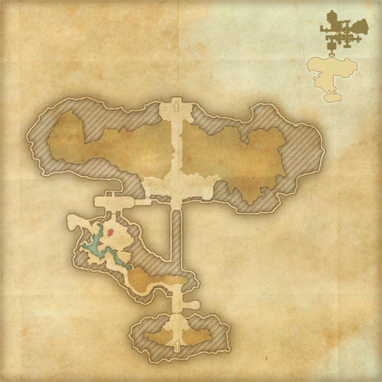 A map of the first area of Sanctum Ophidia
