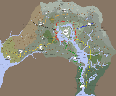 OblivionUnmarked Roads The Unofficial Elder Scrolls Pages UESP - Unmarked map