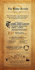 Tamriel Beer Garden Invitation