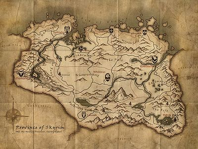 skyrim maps the unofficial elder scrolls pages uesp