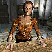 Hulda, owner of The Bannered Mare
