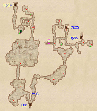 OblivionUnmarked Cave The Unofficial Elder Scrolls Pages UESP - Unmarked map