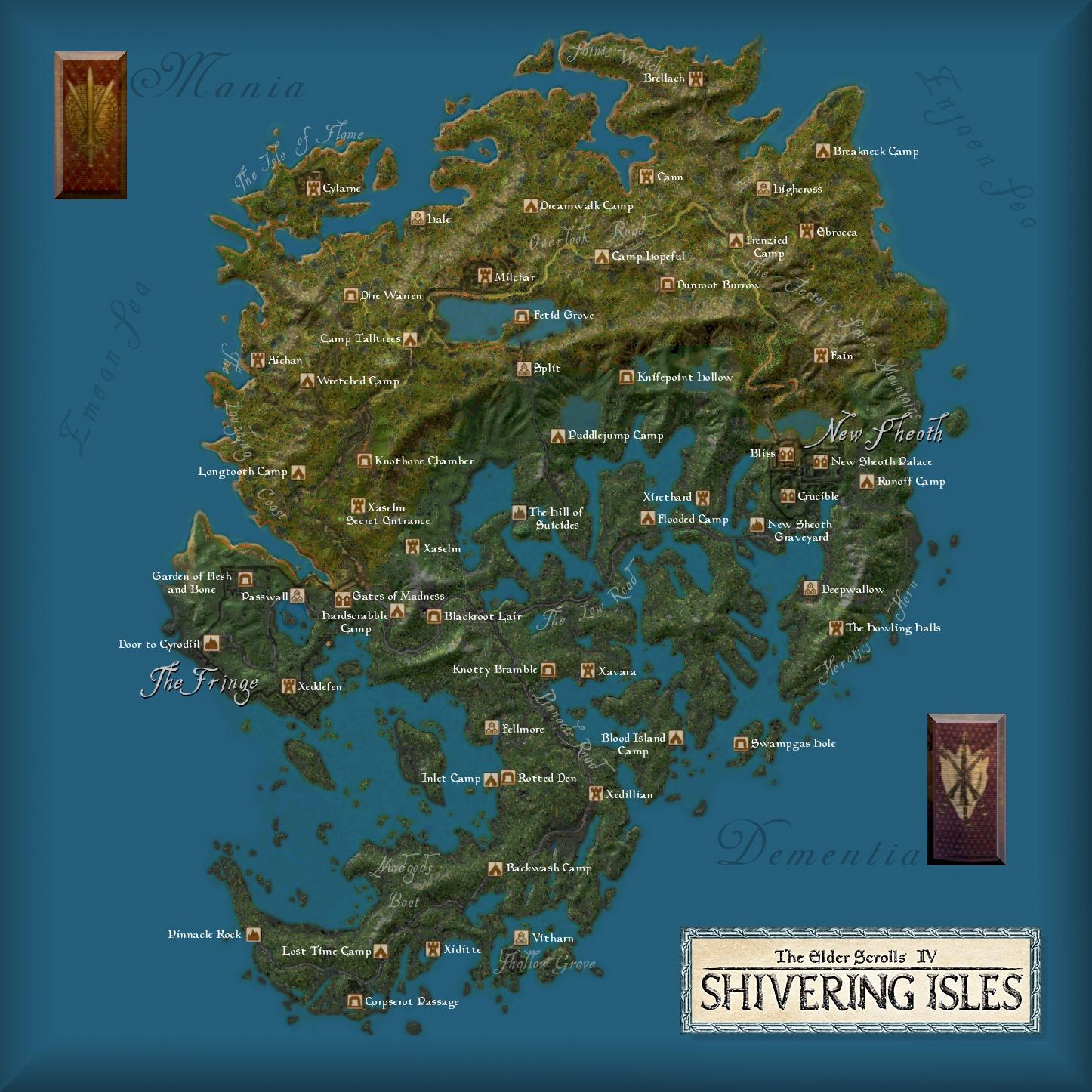 Oblivion - maps