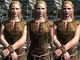 A female Nord, before and after becoming a vampire