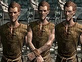 A male Bosmer, before and after becoming a vampire