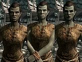 A female Orc, before and after becoming a vampire