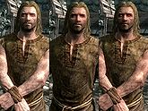 A male Nord, before and after becoming a vampire