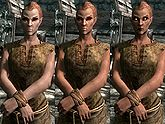 A female Bosmer, before and after becoming a vampire