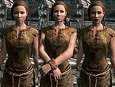 A female Breton, before and after becoming a vampire