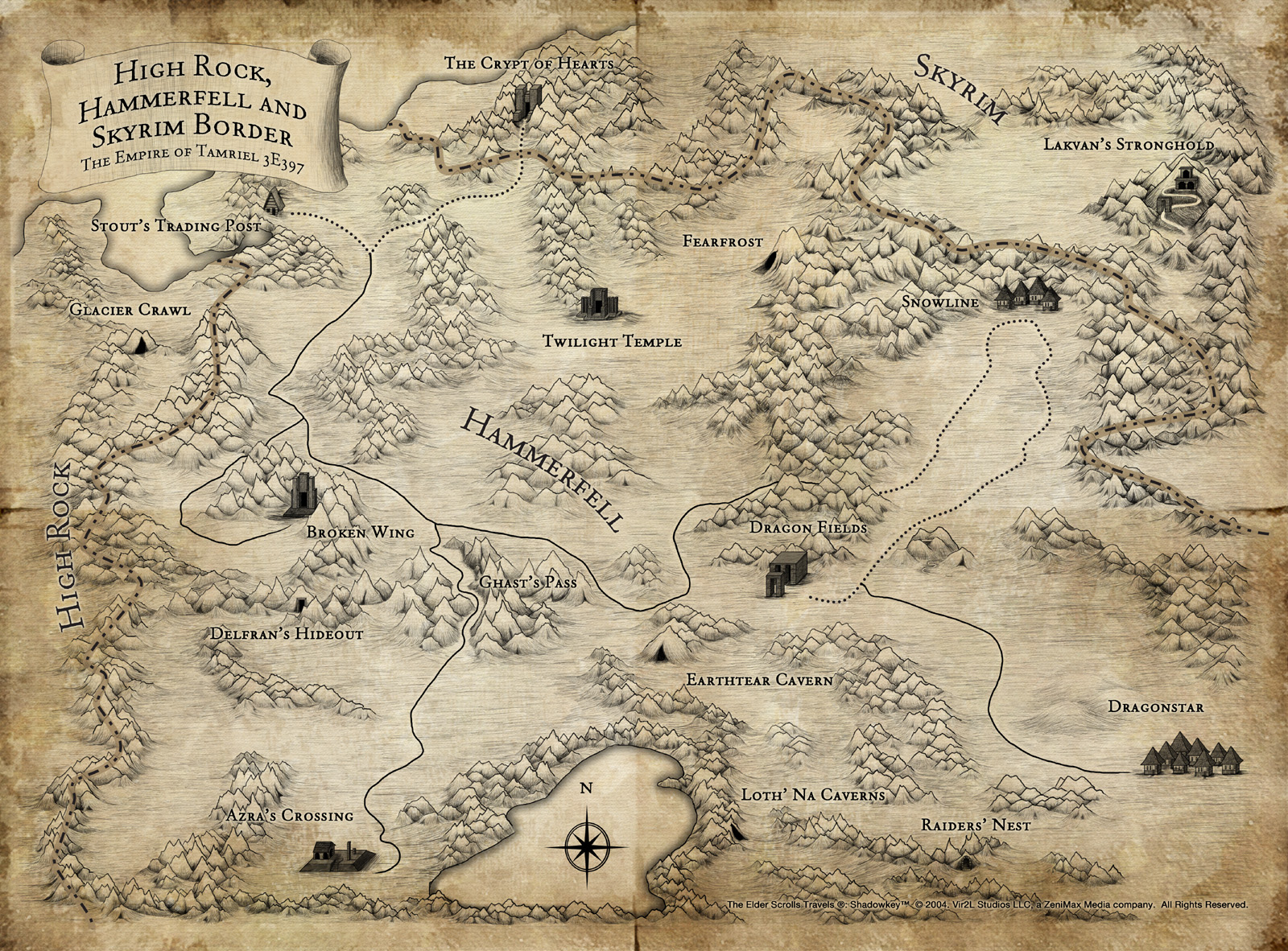 Map of Tamriel : teslore