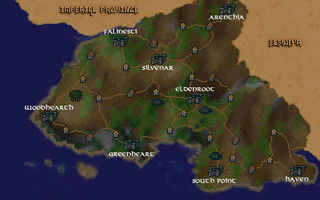The location of Falinesti in Valenwood