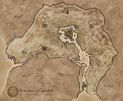 Oblivion:Maps - The Unofficial Elder Scrolls Pages (UESP)