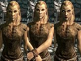 A female Altmer, before and after becoming a vampire