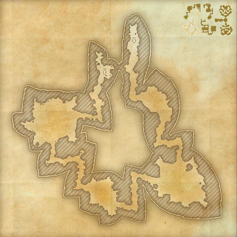 A map of the second area of the Cradle of Shadows
