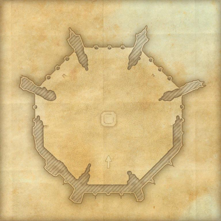A map of Direfrost Keep Summit