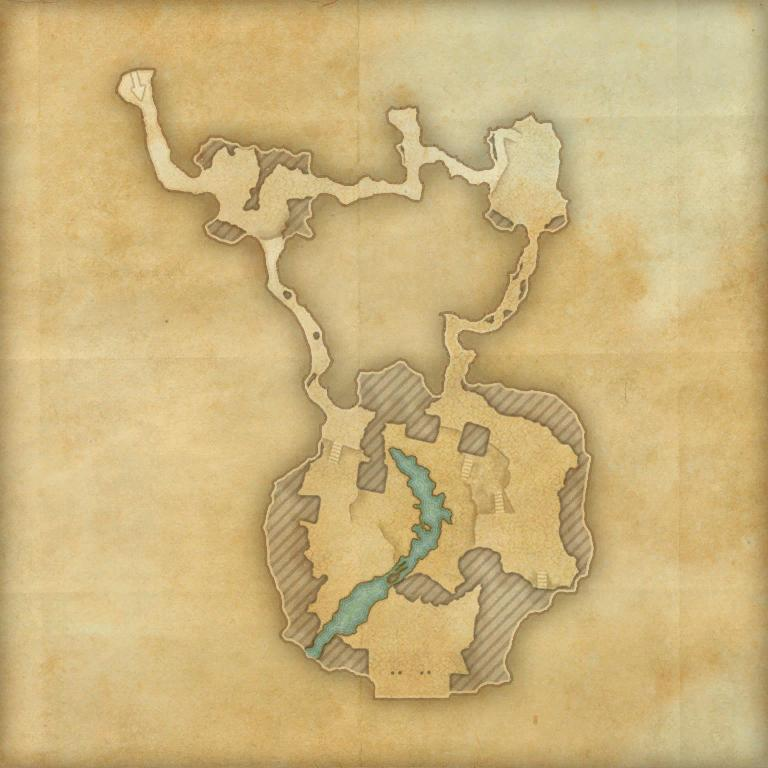 A map of Darkshade Caverns II