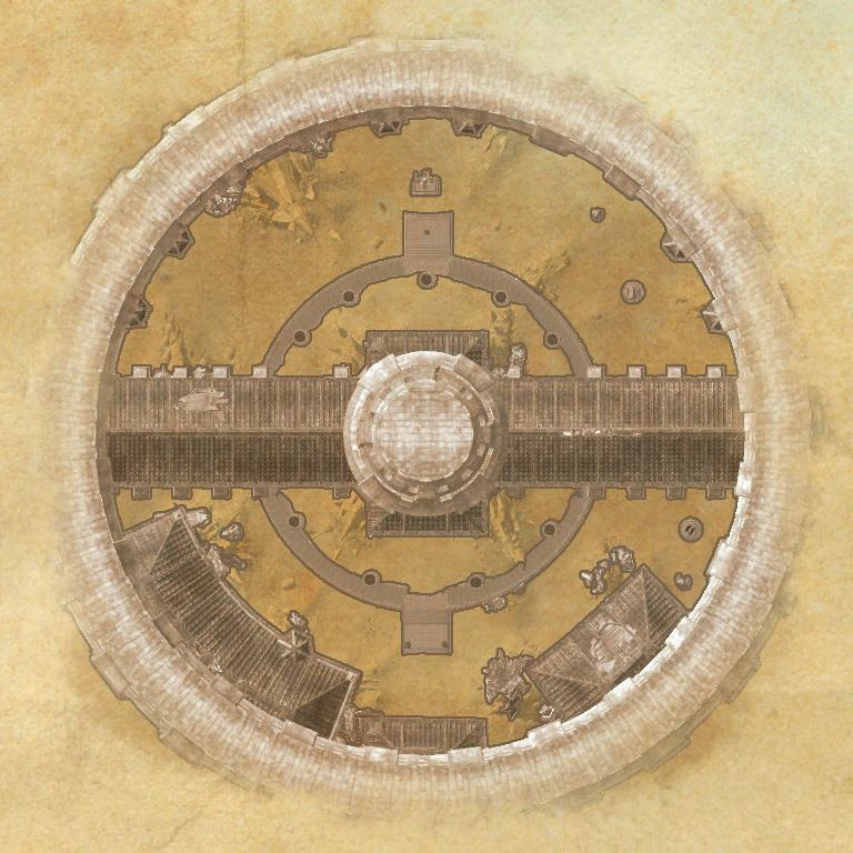 A map of the entrance of Imperial City Prison