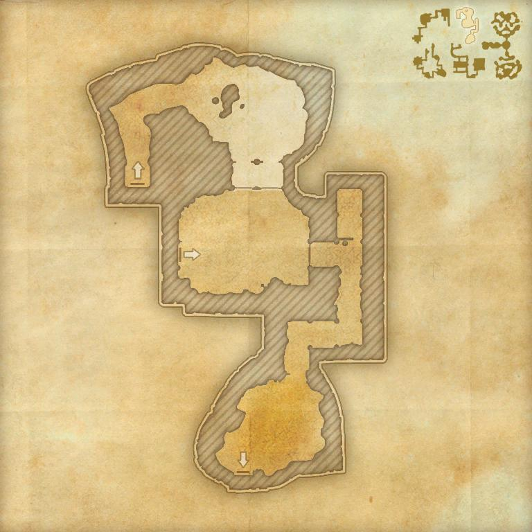 A map of the first area of the Cradle of Shadows