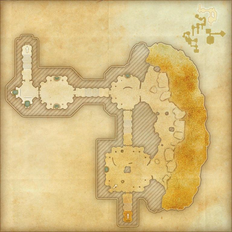 A map of the third area of Scalecaller Peak