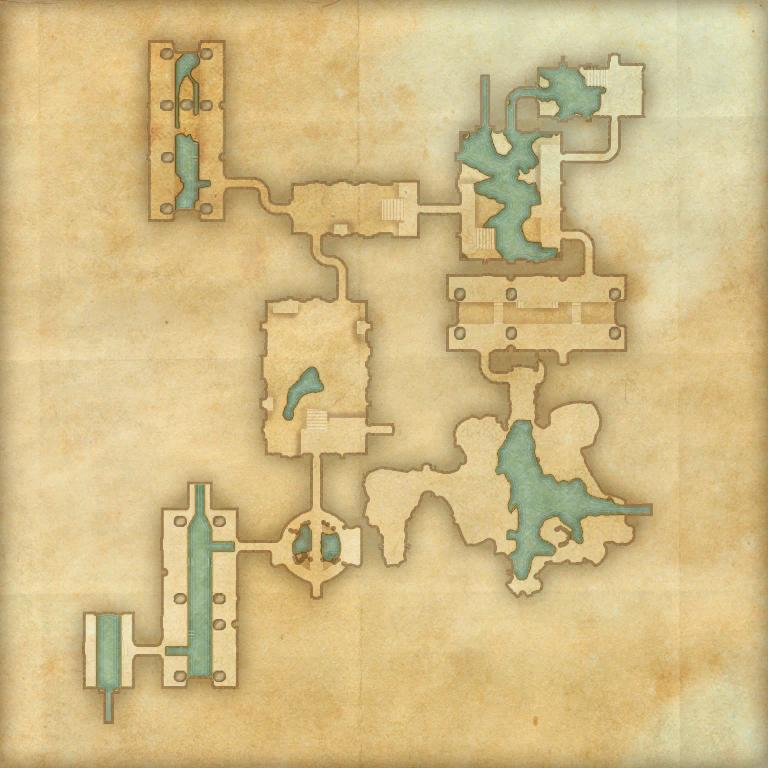 A map of Wayrest Sewers II