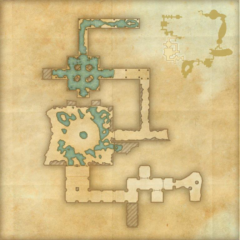 A map of the second area of Imperial City Prison