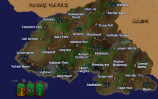The location of Ebon Ro in Valenwood