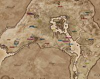 Oblivion:Pilgrimage - The Unofficial Elder Scrolls Pages (UESP) on first templar map, thieves guild map, elder scrolls map, dawnstar hearthfire land map,