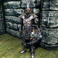 Skyrim Dragon Armor Light – I smithed the armor up to legendary.