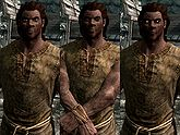 A male Redguard, before and after becoming a vampire