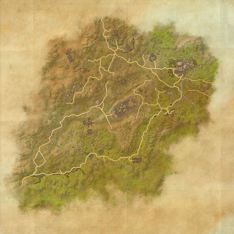 A map of Northern Elsweyr