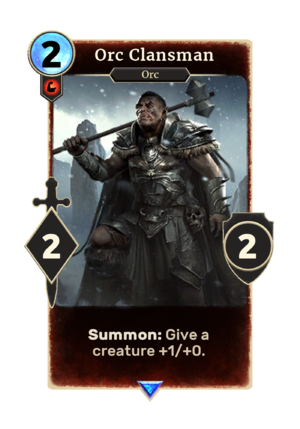 300px LG card Orc Clansman - Suggestion, which implementation would lead to access to an increased amount of tools currently either unavailable or lost to time.