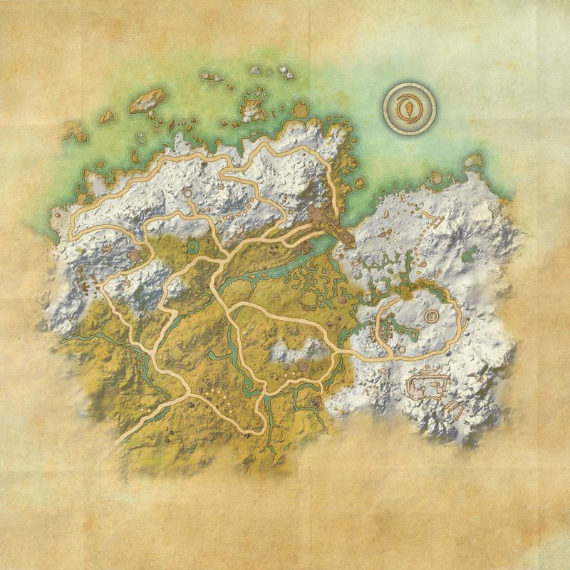 A map of Western Skyrim