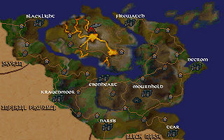 The location of Narsis in Morrowind