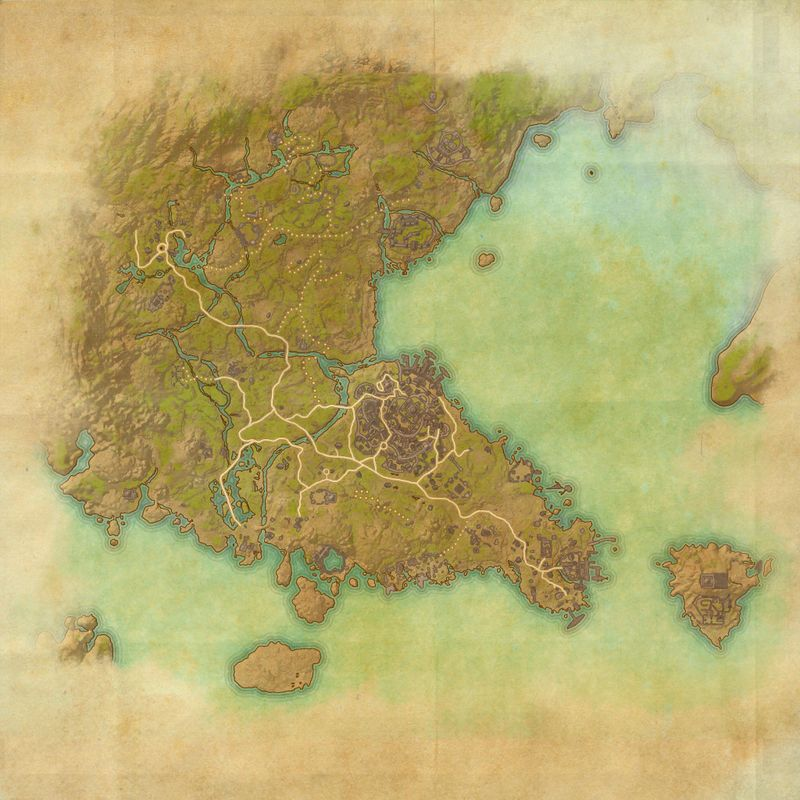 A map of Southern Elsweyr