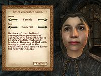 Oblivion:Character Creation - The Unofficial Elder Scrolls