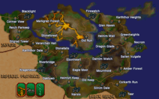 The location of Dragon Glade in Morrowind