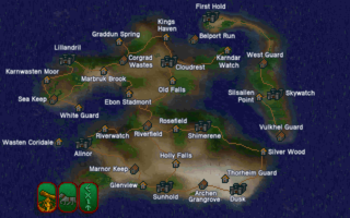 The location of Sea Keep in Summurset Isle